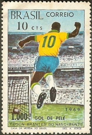 Selo Gol mil do Pelé