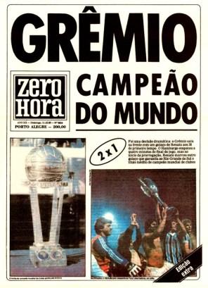 ZH - Gremio Campeao do Mundo 1983