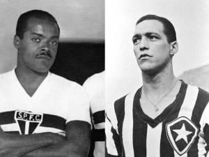 Leônidas da Silva (à esquerda) e Heleno de Freitas já eram reconhecidos dentro e fora das