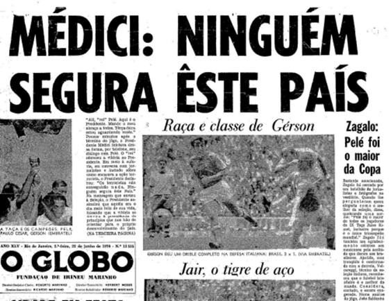 Capa do O Globo