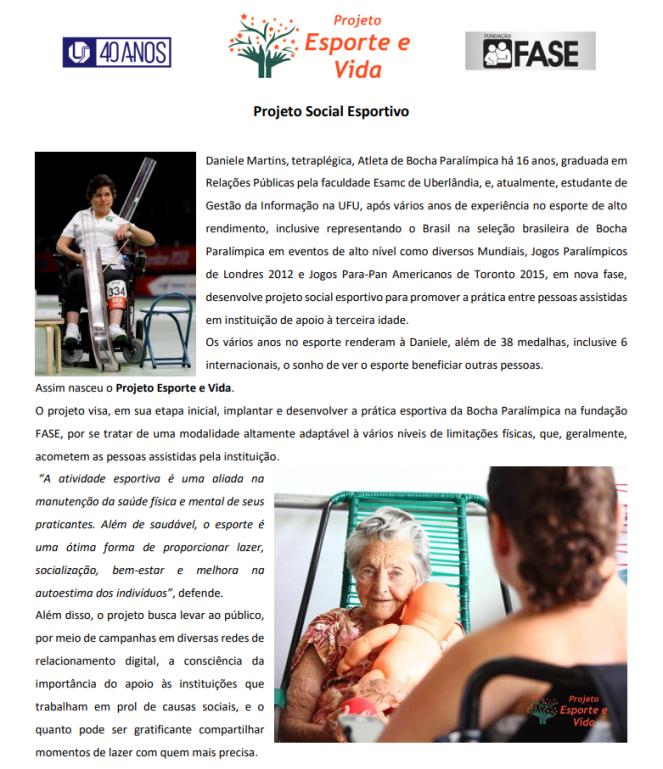 Projeto Social Esportivo